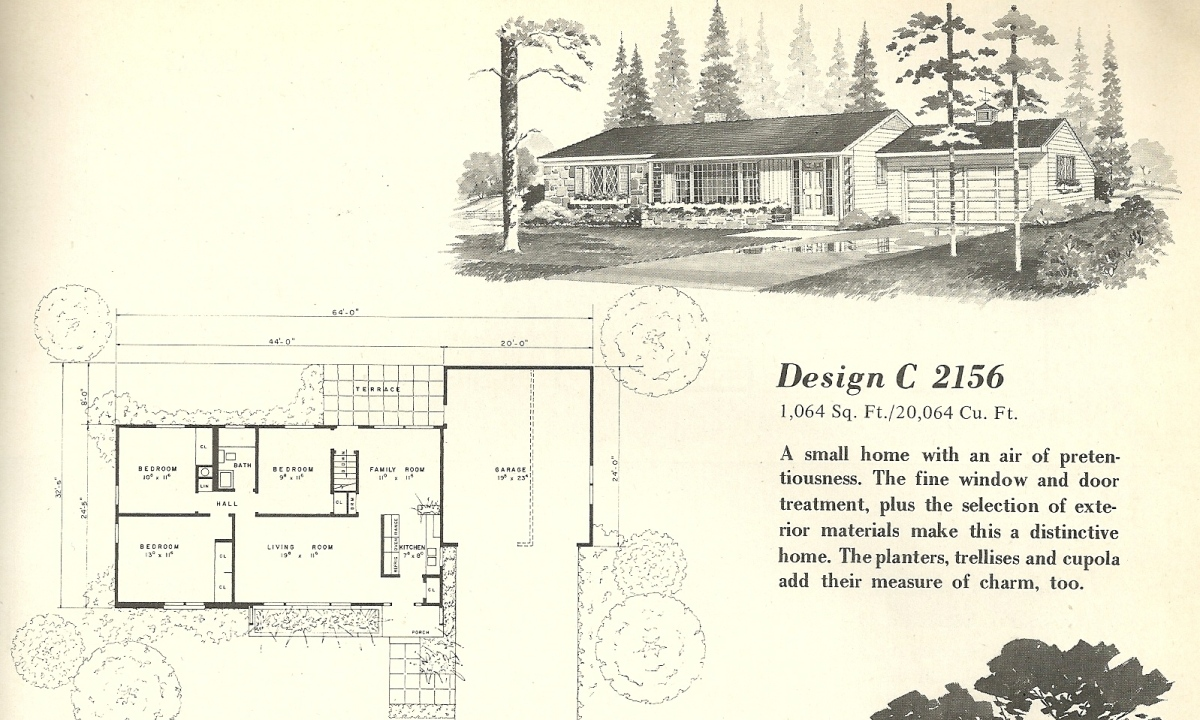 Vintage house plans 2156 antique alter ego for Vintage home floor plans