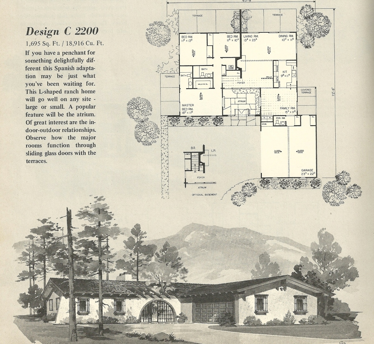 Vintage house plans 2200 antique alter ego for 1960 s home plans