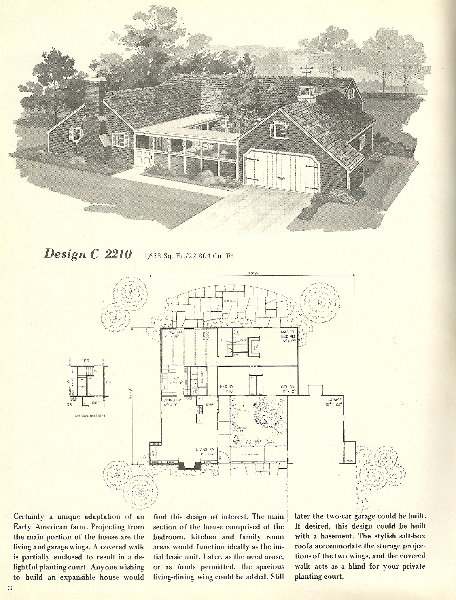Vintage house plans 2210 antique alter ego for 1960 house plans