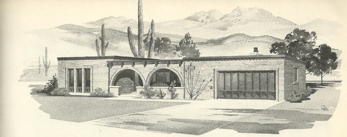 Vintage house plans 1960s spanish style and mid century for 1960s modern house design