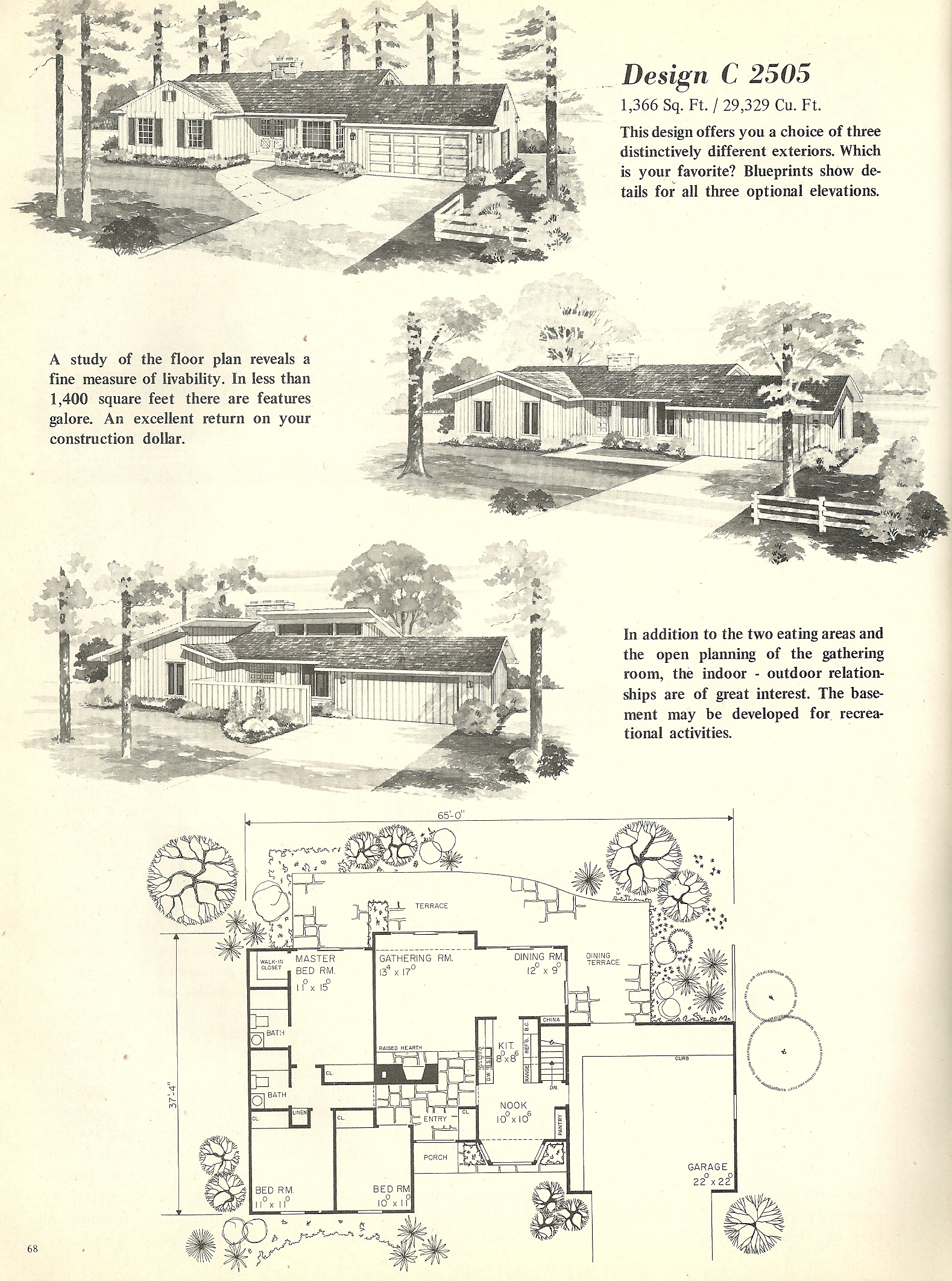 A nifty suburban home from the 60 39 s 63 pieces jigsaw puzzle for Antique house floor plans
