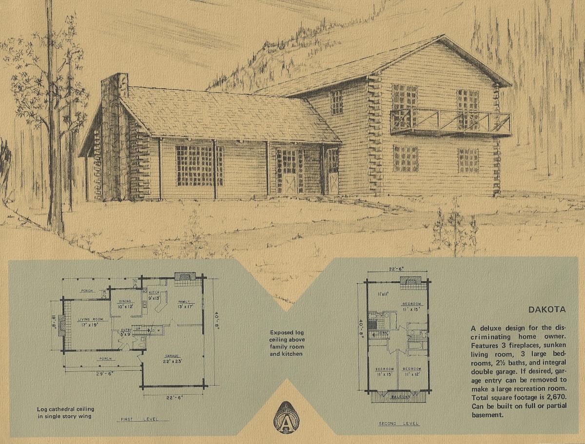 log cabins, log homes, building plans, vintage