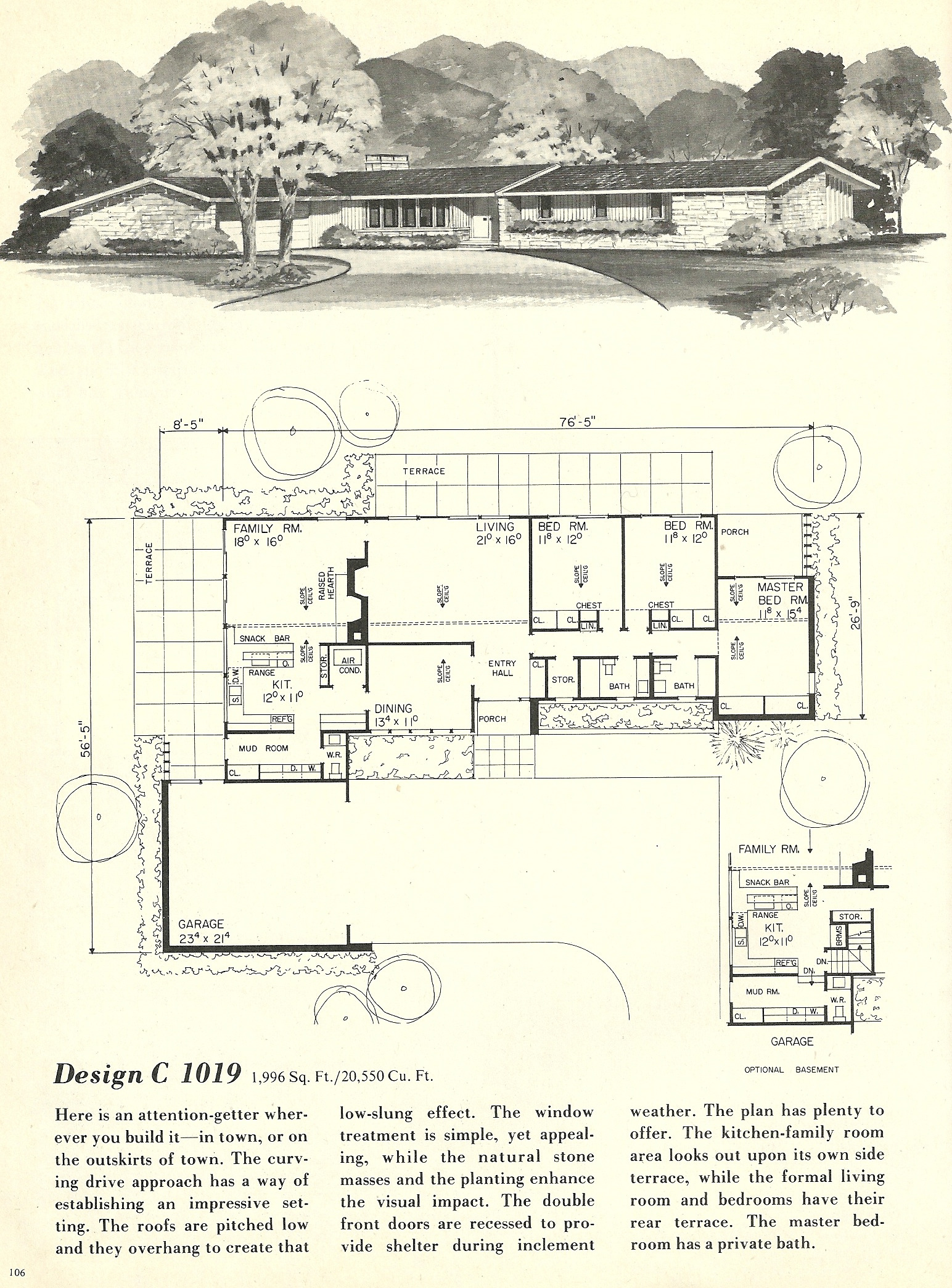 Vintage house plans 1019 antique alter ego for 1960 s home plans