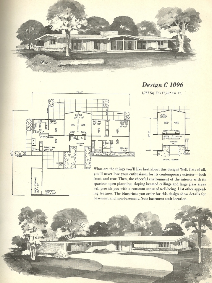 Vintage house plans 1096 antique alter ego for 1960 s home plans