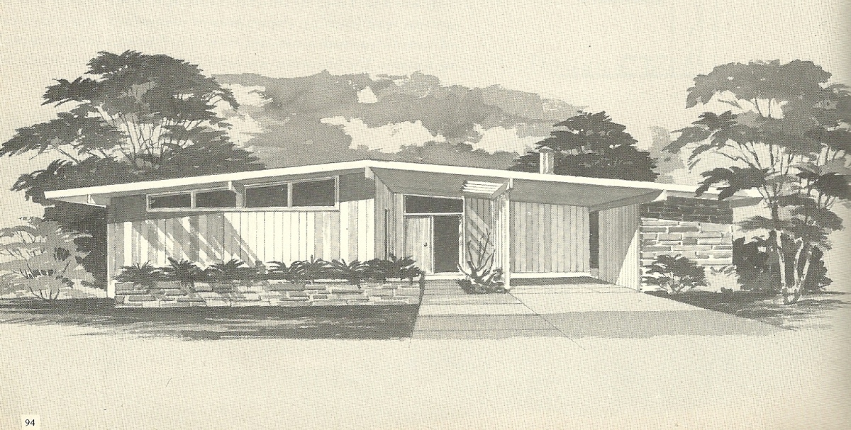 Vintage house plans 1960s mid century modern homes for Mid century home plans