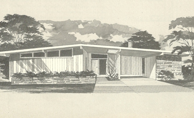 Vintage House Plans 1960s  Mid Century Modern Homes   Antique