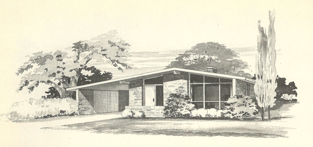 Vintage house plans 1960s more mid century modern homes for Mid century home plans