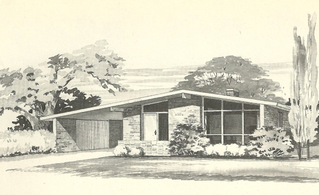 Vintage House Plans 1960s More Mid Century Modern Homes Antique Alter Ego