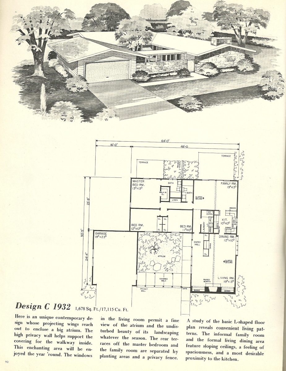 Vintage house plans 1932 antique alter ego for 1960 s home plans