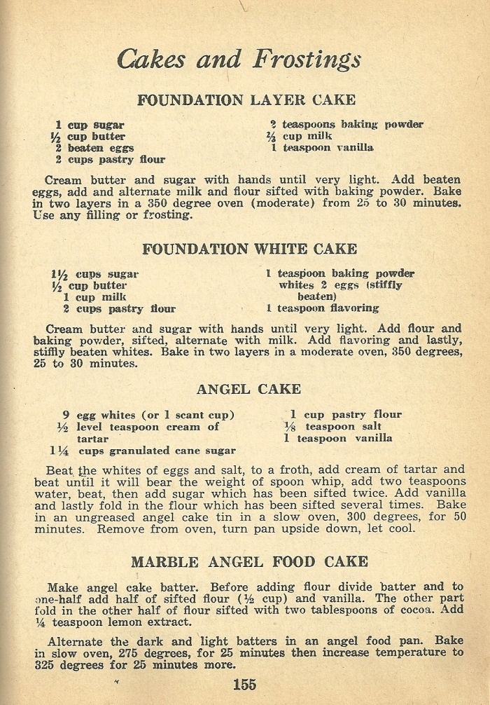 Vintage Recipes Cake And Frosting Recipes From 1946