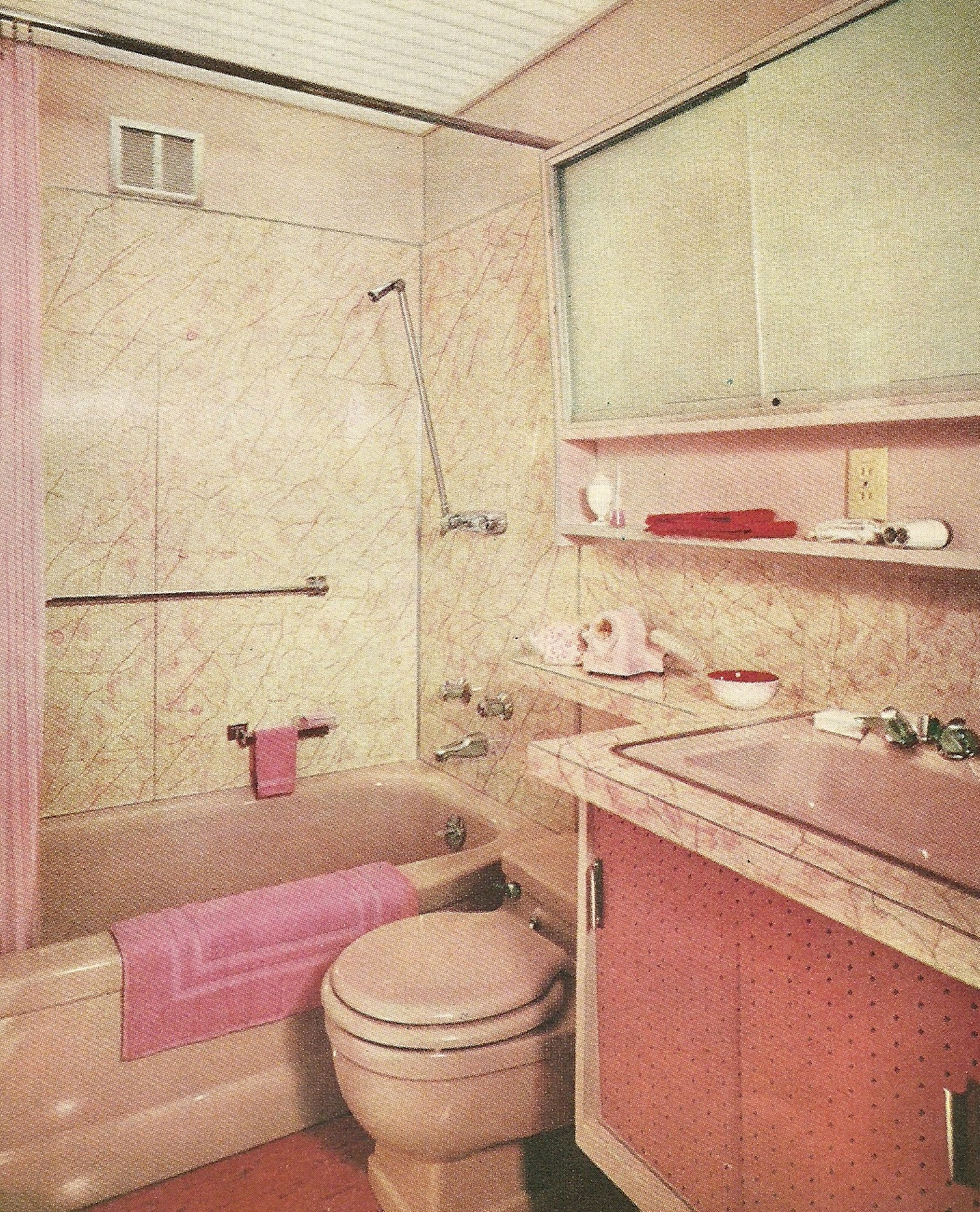 Vintage decorating bathrooms 9 antique alter ego for 1960s bathroom design