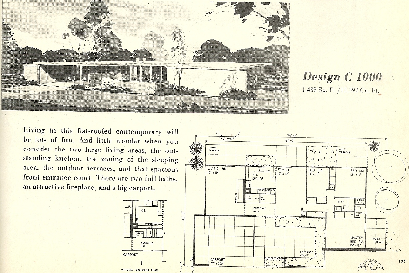 ... 1049 In Vintage House Plans 1960s: Mid Century Beauties