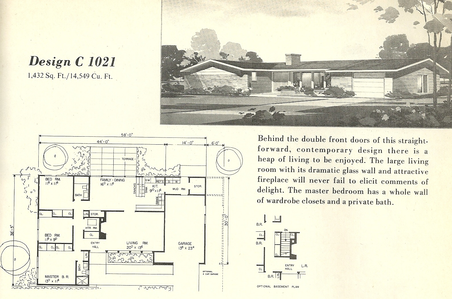 Picture of: Vintage House Plans 1021