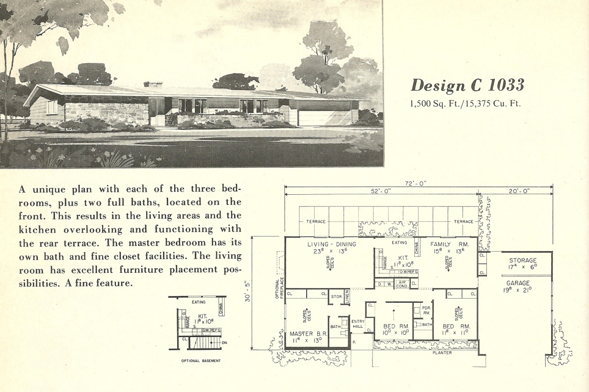 Vintage house plans 1033 antique alter ego for 1960 s home plans