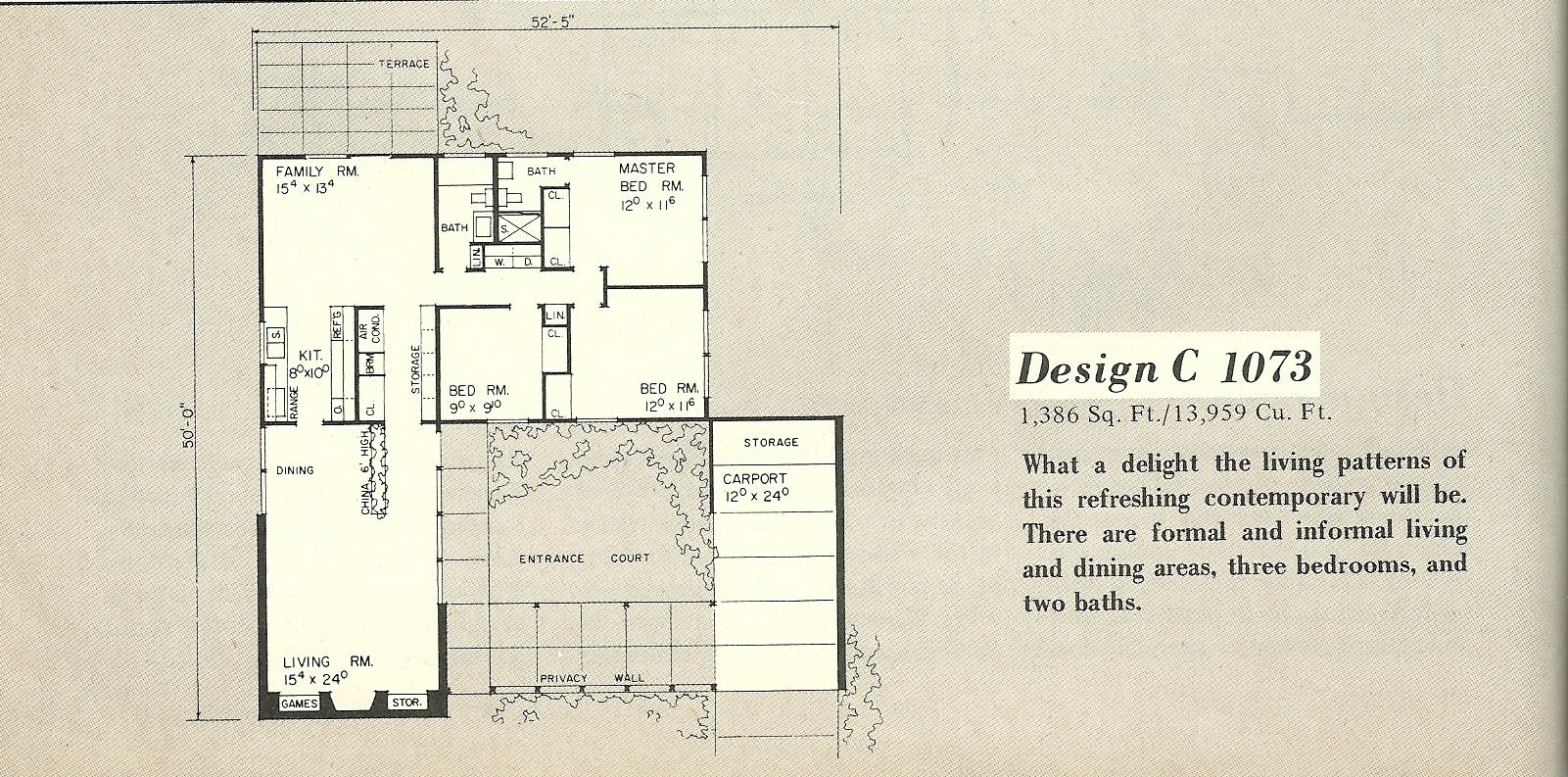 Vintage House Plans 1073a Antique Alter Ego