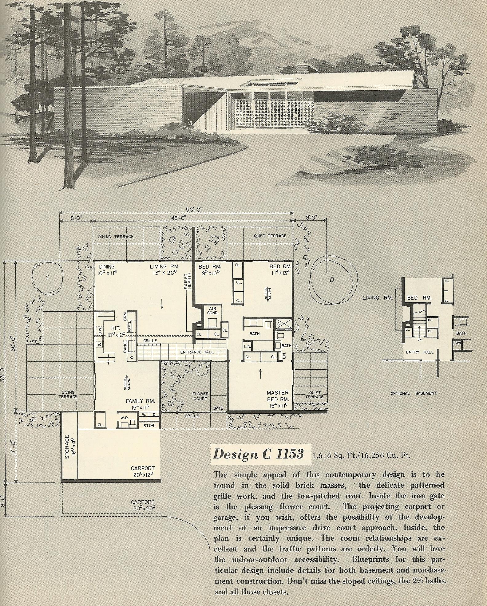 Vintage House Plans 1153 Antique Alter Ego