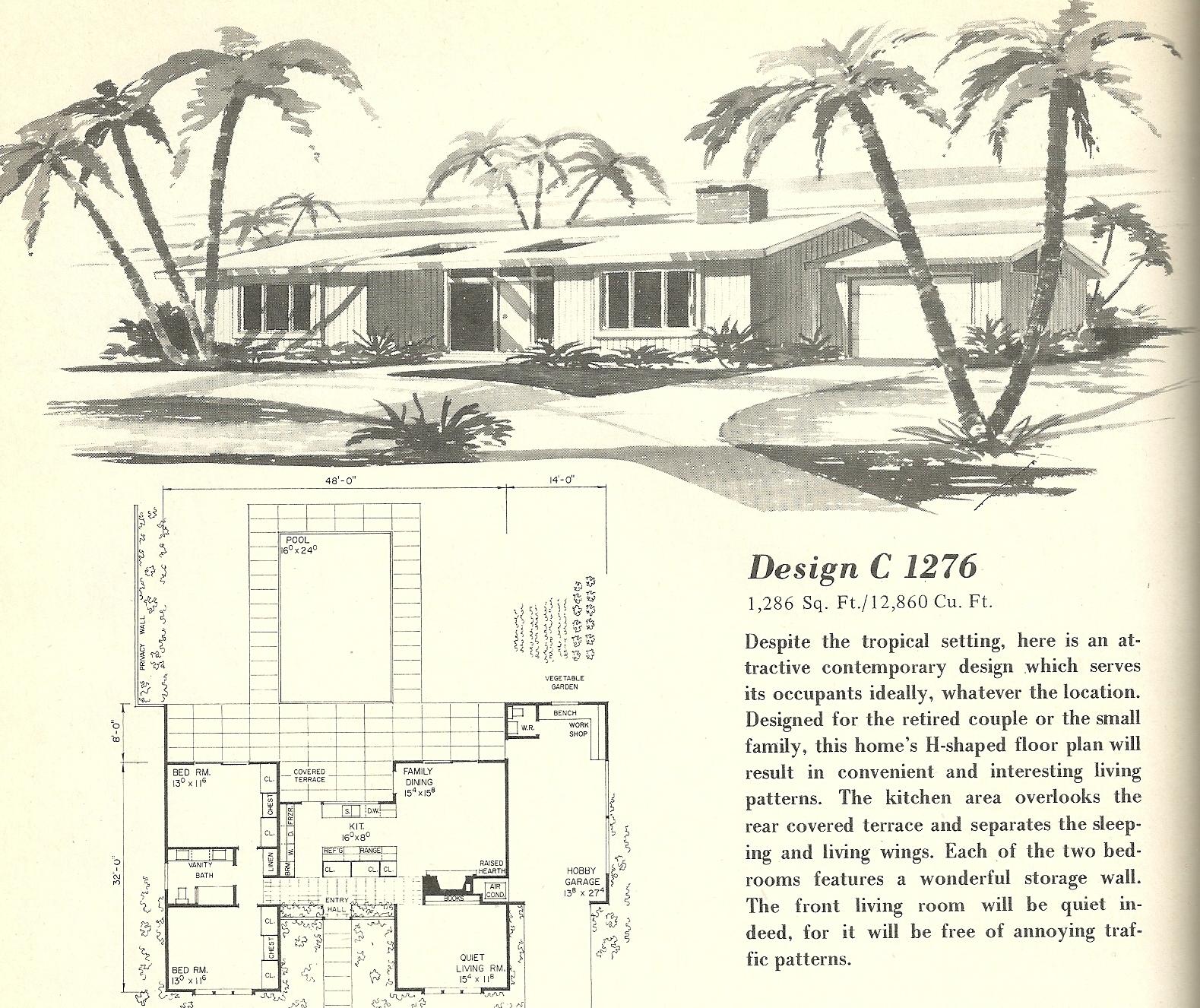 Vintage house plans 1276 antique alter ego for 1960 house plans