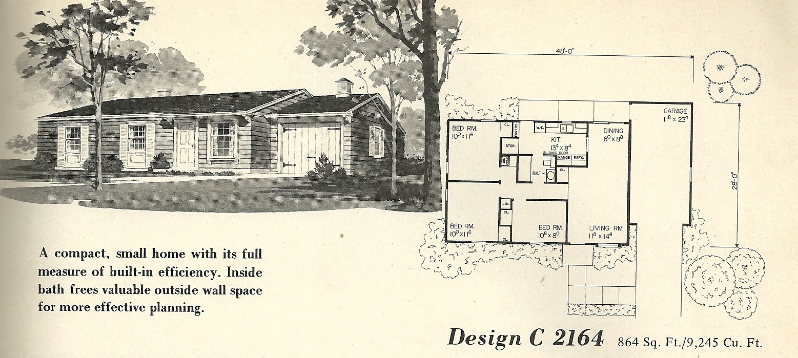 Vintage House Plans 2164 Antique Alter Ego