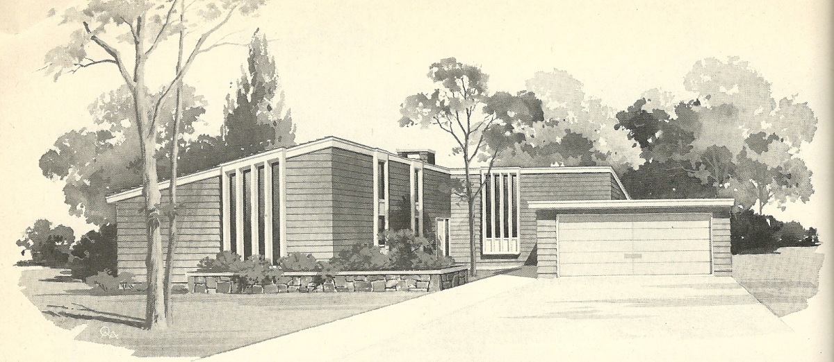 Vintage house plans 1960s mid century beauties antique for Retro modern house plans
