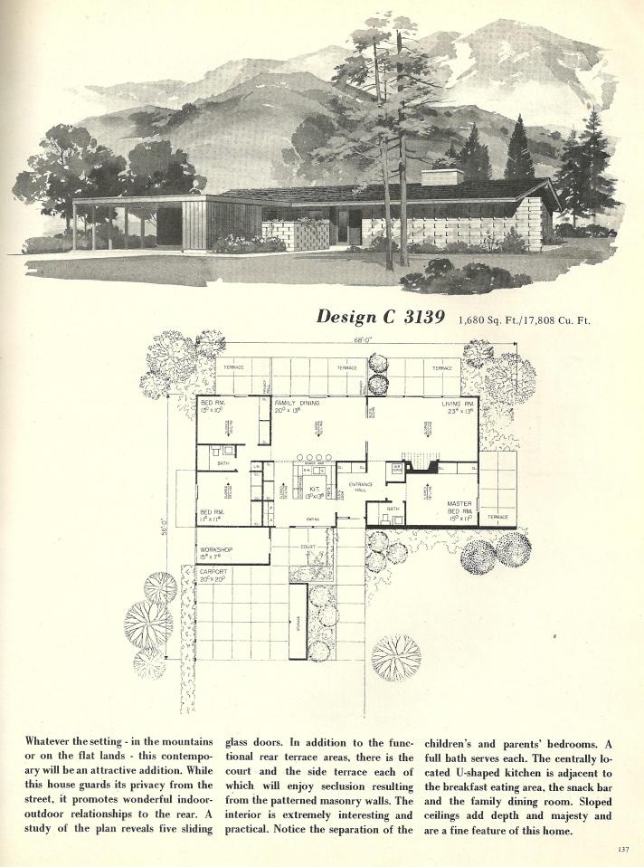 Vintage house plans 3139 antique alter ego for 1960 house plans