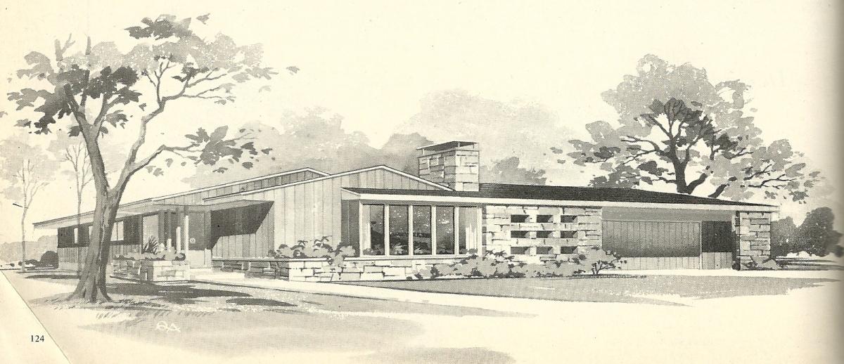 Vintage house plans 3190 antique alter ego for 1960s modern house design