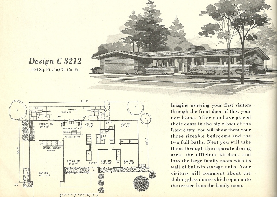 Vintage house plans mid century modern 1960s pictures for 1960s modern house design