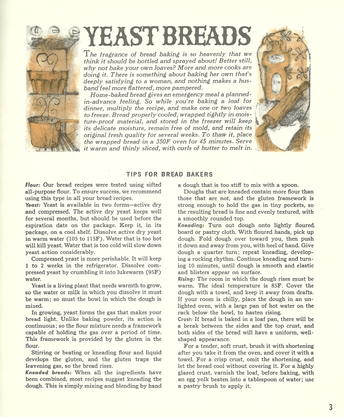 vintage bread recipes, yeast bread, bread