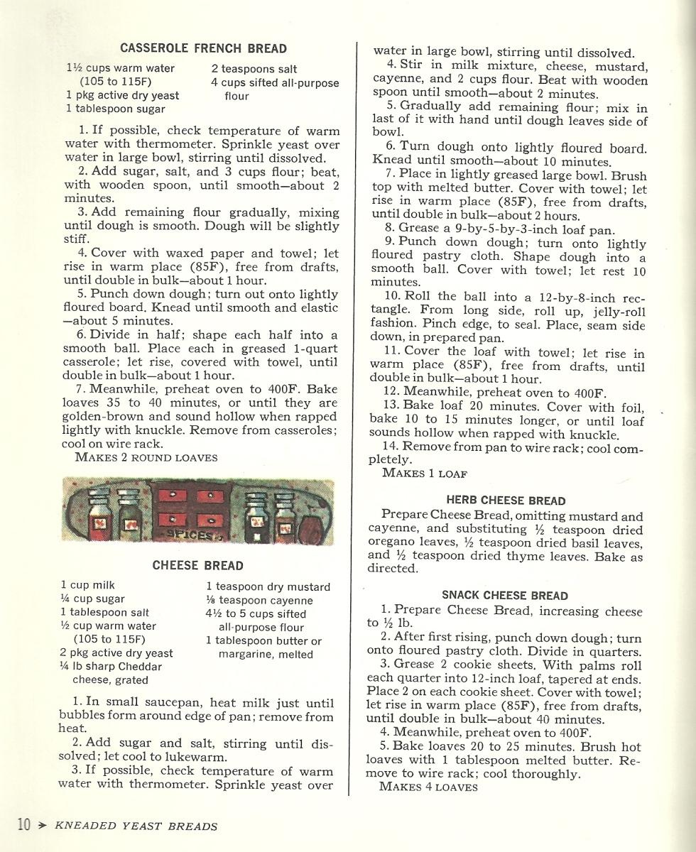 vintage bread recipes, yeast bread, bread