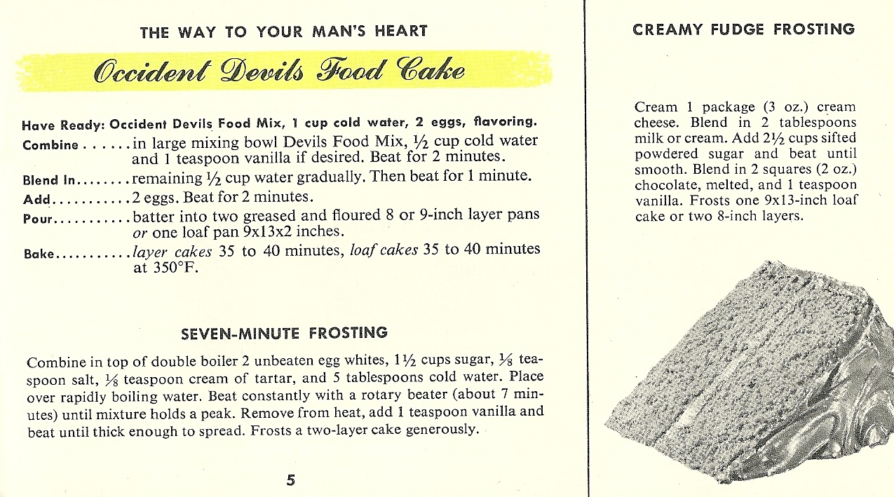 Vintage Betty Crocker Cake Recipes
