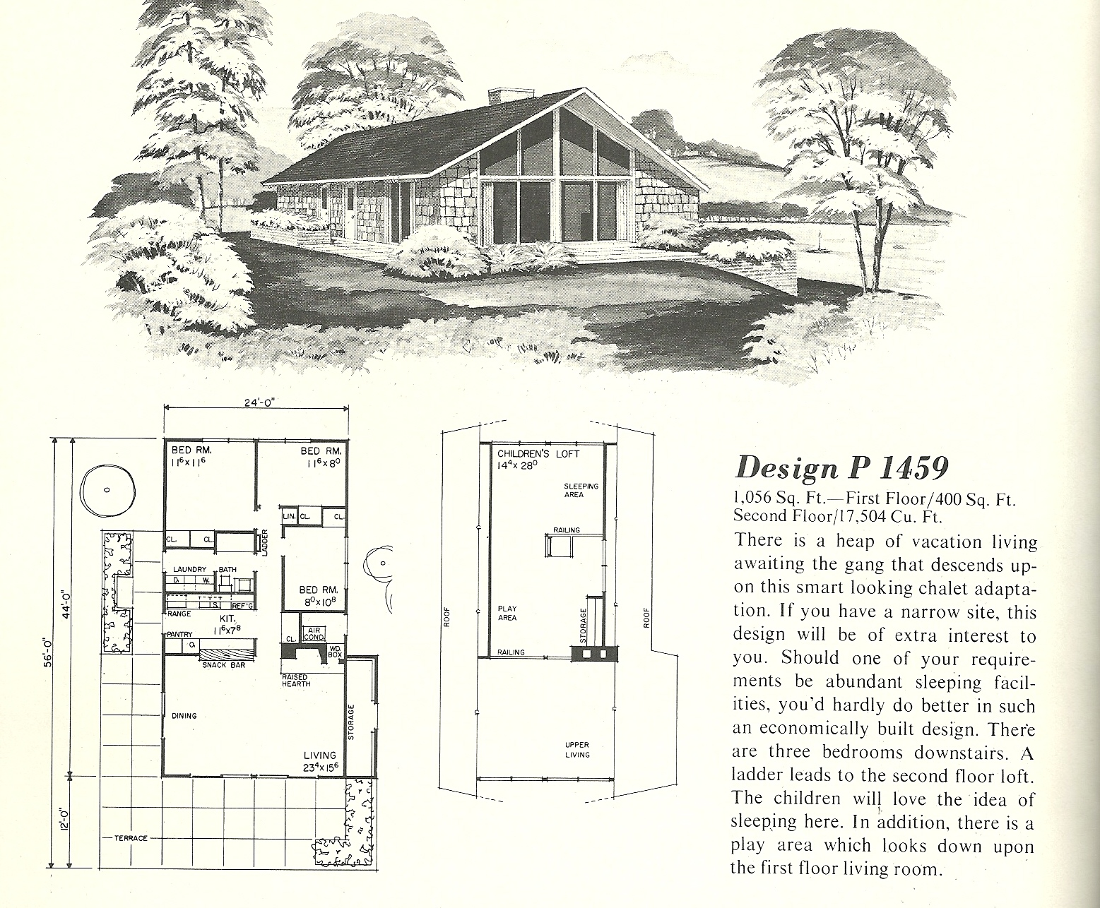 vintage house plans 1459 antique alter ego