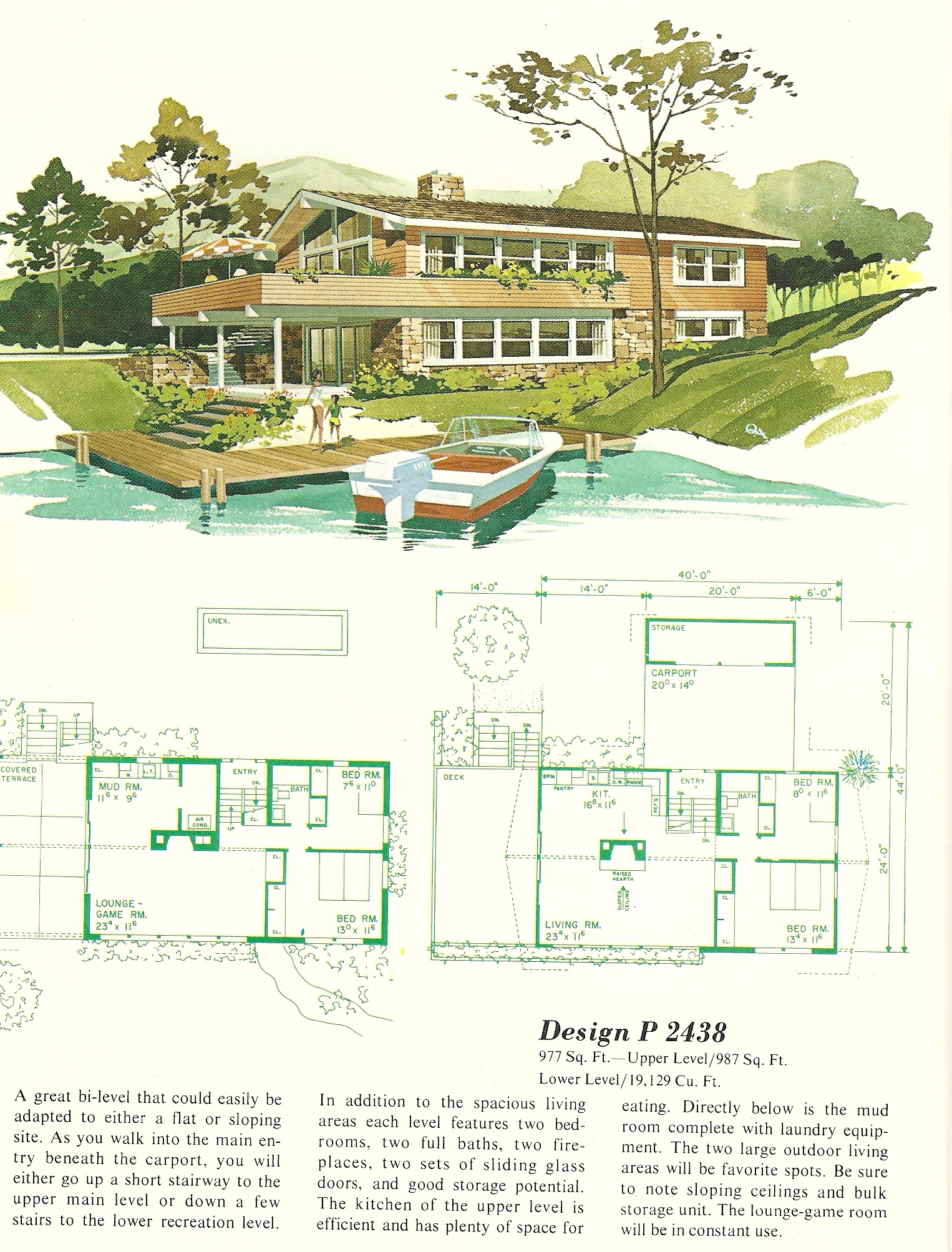 Vintage house plans vacation homes 2438 antique alter ego for Vacation house plans