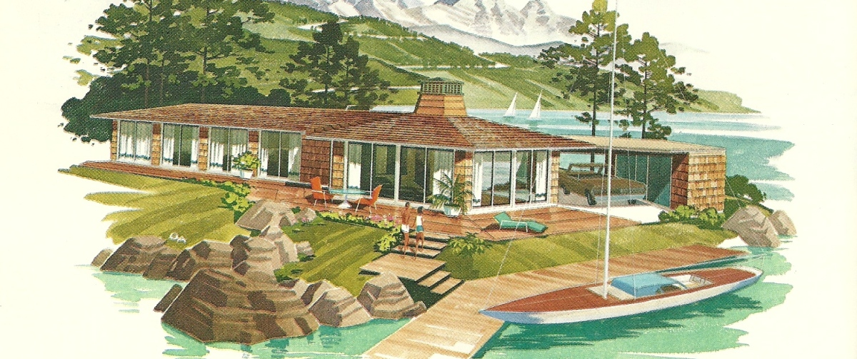 Vintage house plans vacation homes 2458 antique alter ego for Vacation home house plans