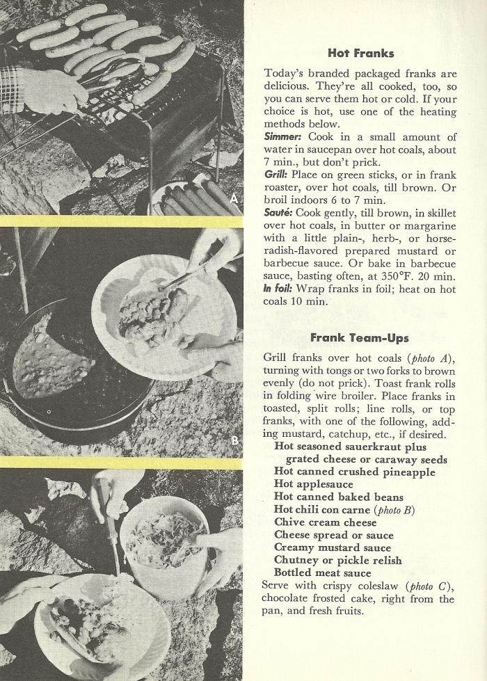 Vintage Recipes, BBQ, grilling, hamburger, hot dogs