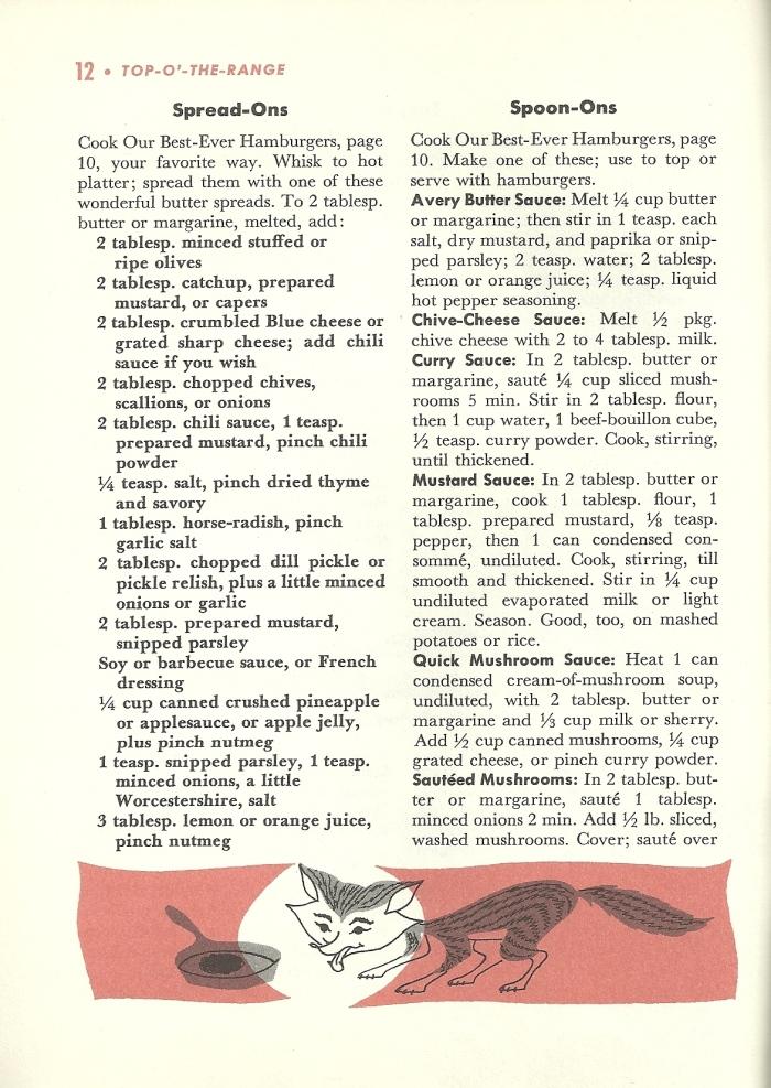 Vintage Hamburger recipes, vintage recipes, hamburger recipes