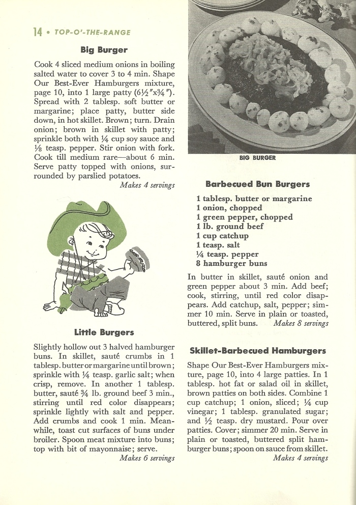Vintage Hamburger recipes, vintage recipes, hamburger recipes