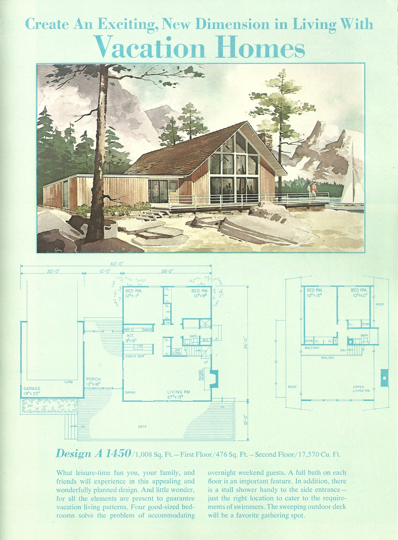 Vintage vacation home plans 1 antique alter ego for Free vacation home plans