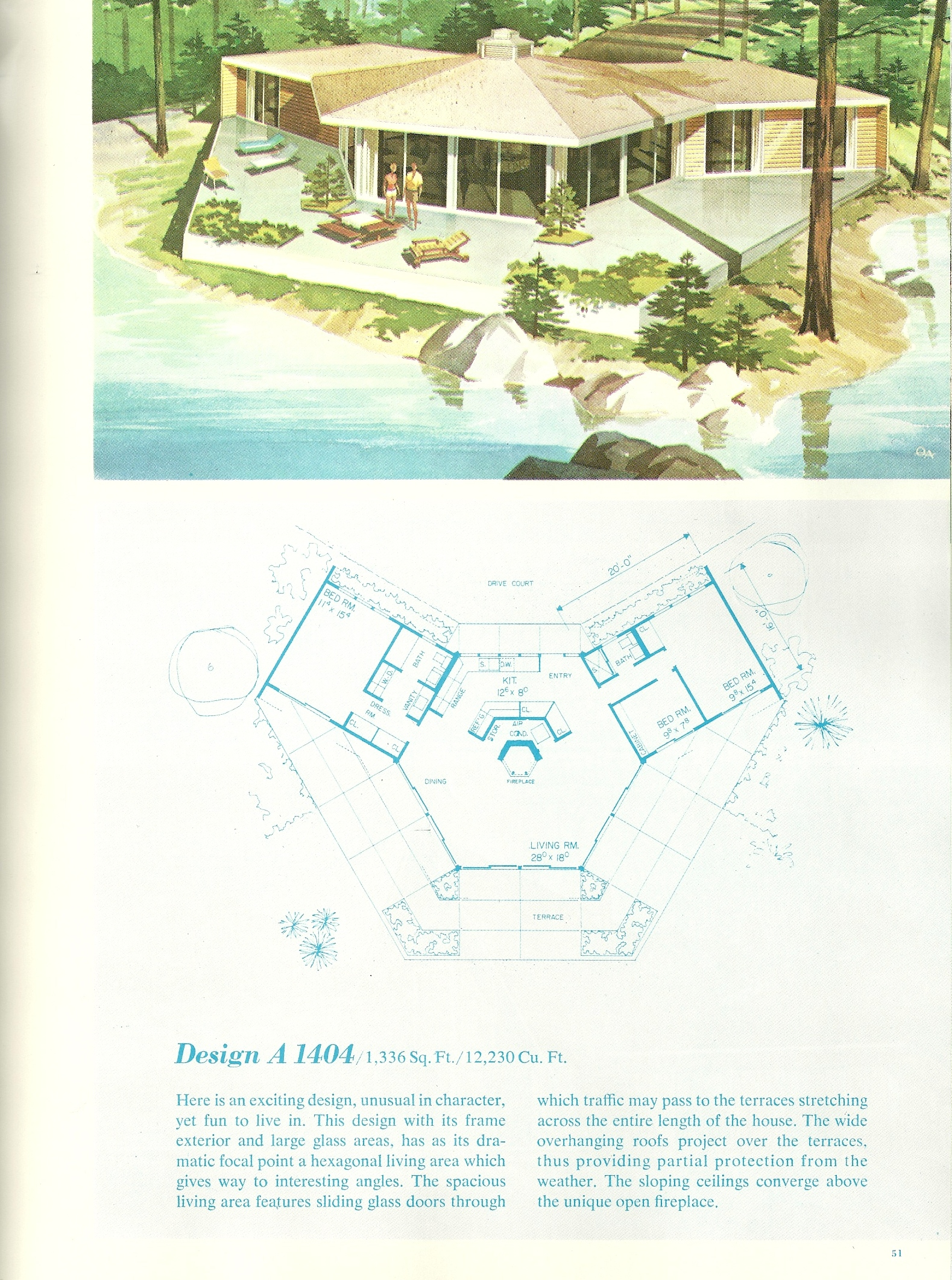 Vintage vacation home plans 3 antique alter ego for 1960 s home plans