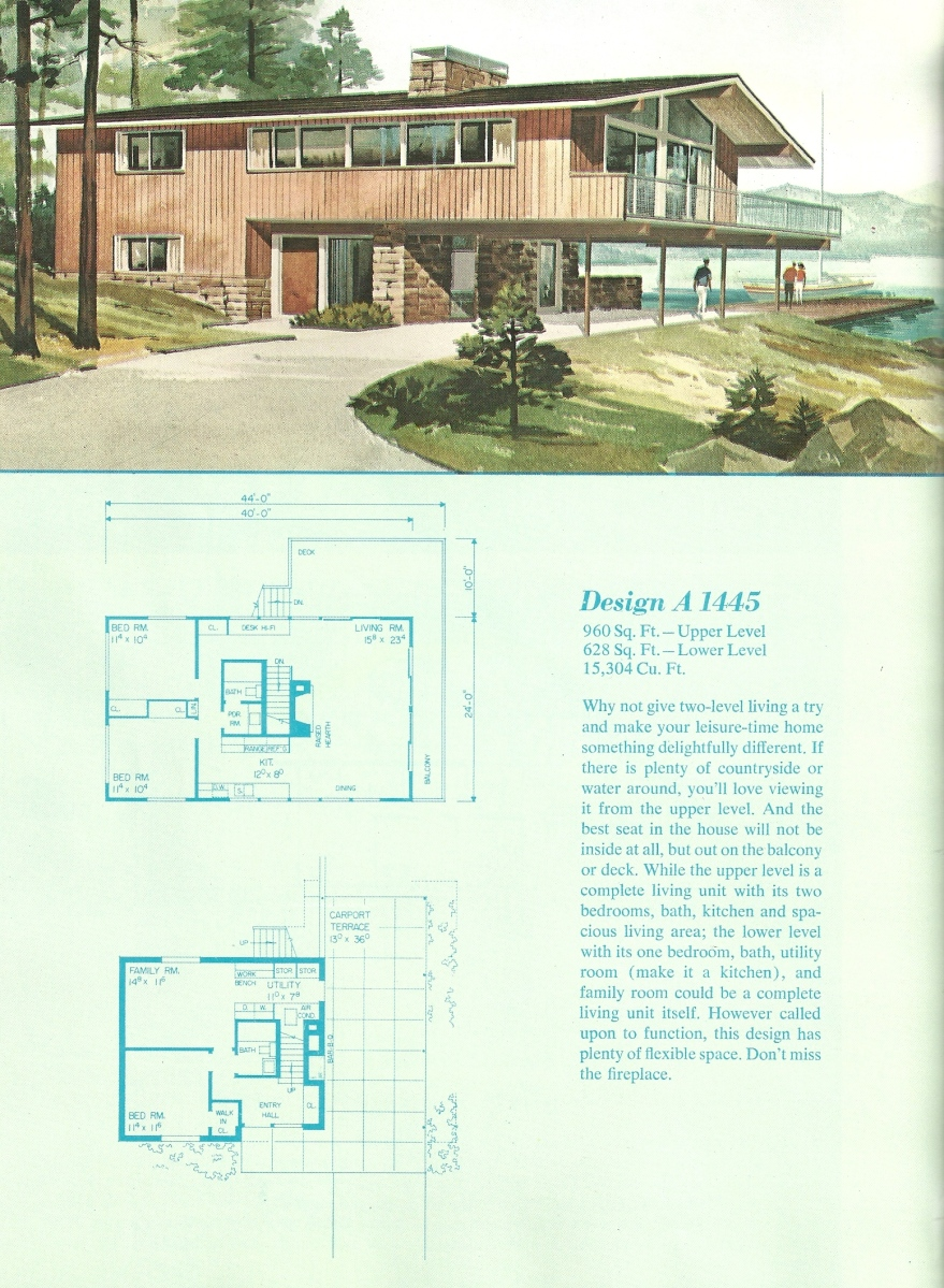 Vintage House Plans, Vacation house plans, vacation homes
