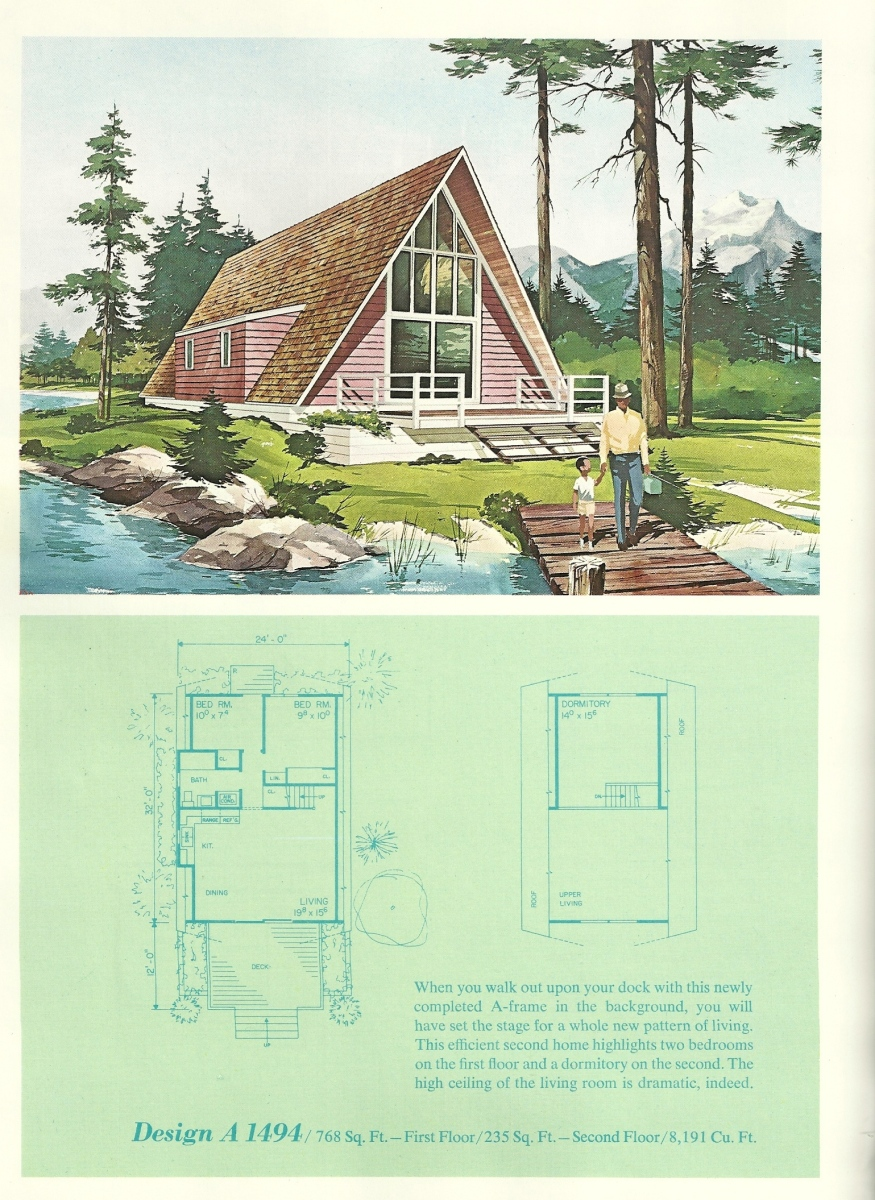 Vintage vacation home plans 7 antique alter ego for Vacation floor plans