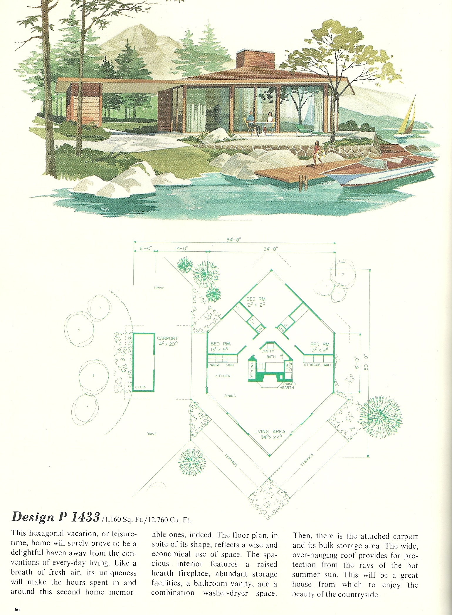 Tiny Home Designs: Vintage Vacation Home Plans 1433
