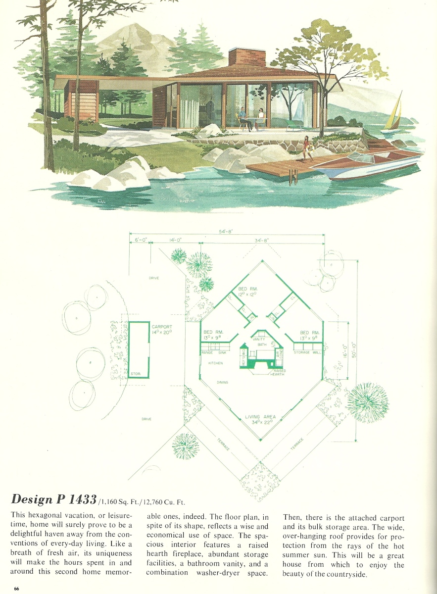 vacation house plans vintage vacation home plans 1433 15310