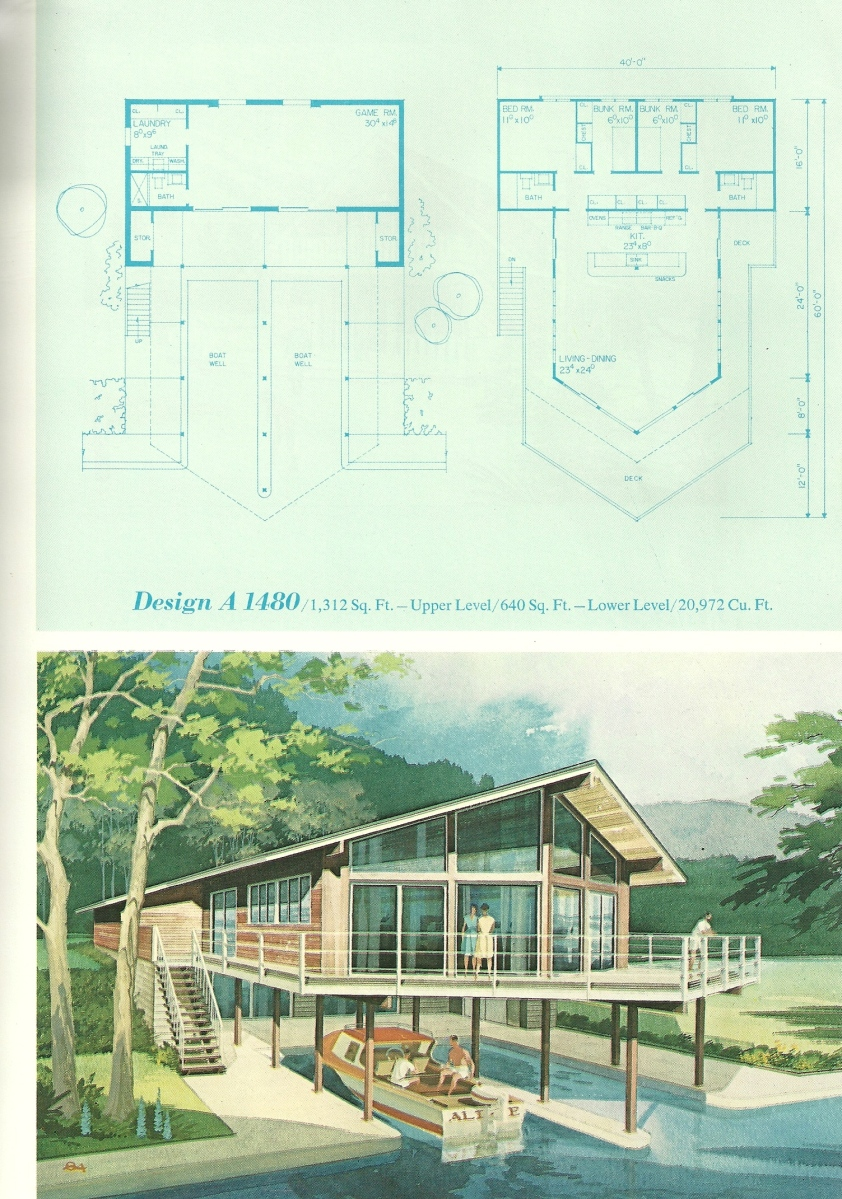 vacation house plans vintage vacation home plans 1480 15310