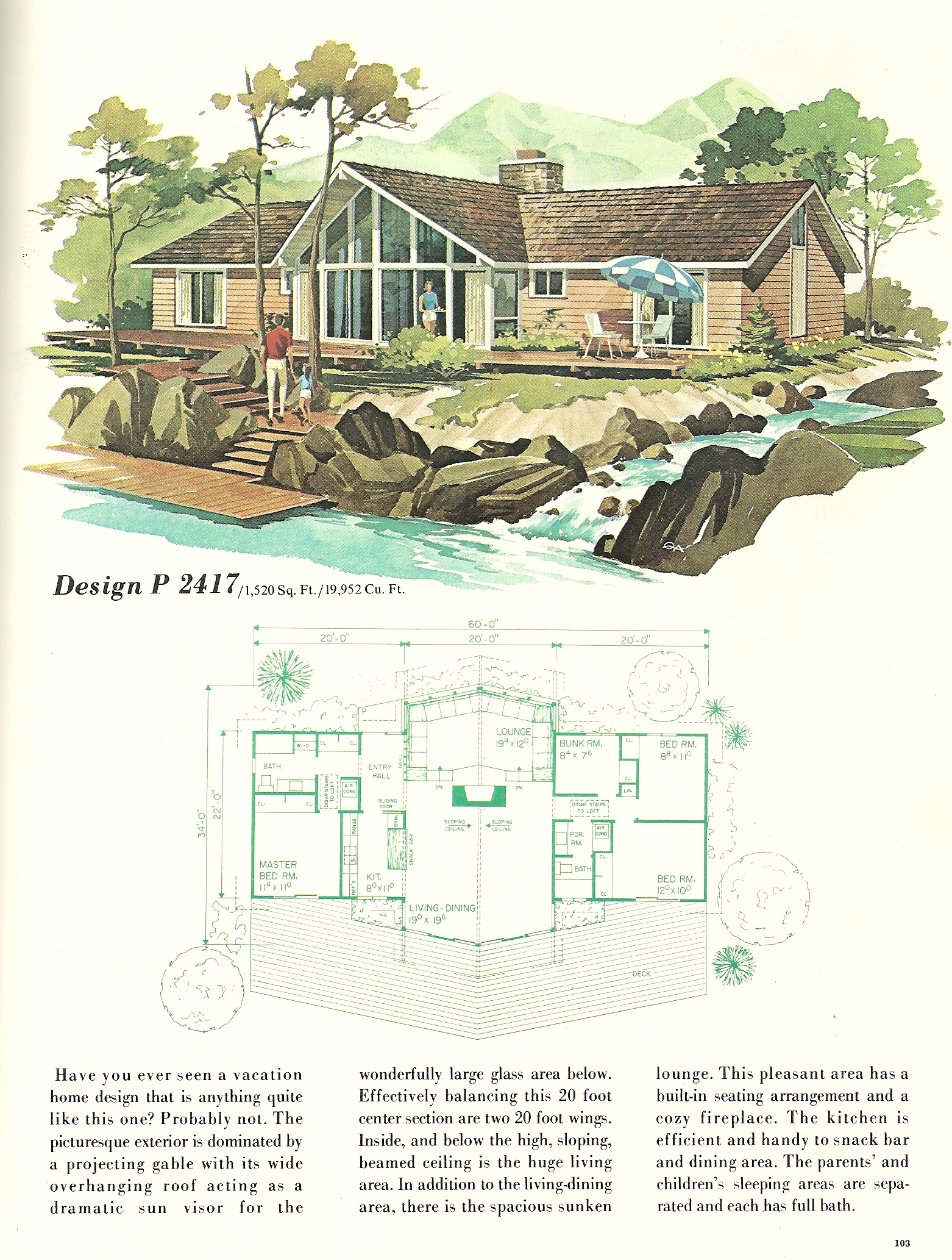 Vintage Vacation Home Plans 2417 Antique Alter Ego