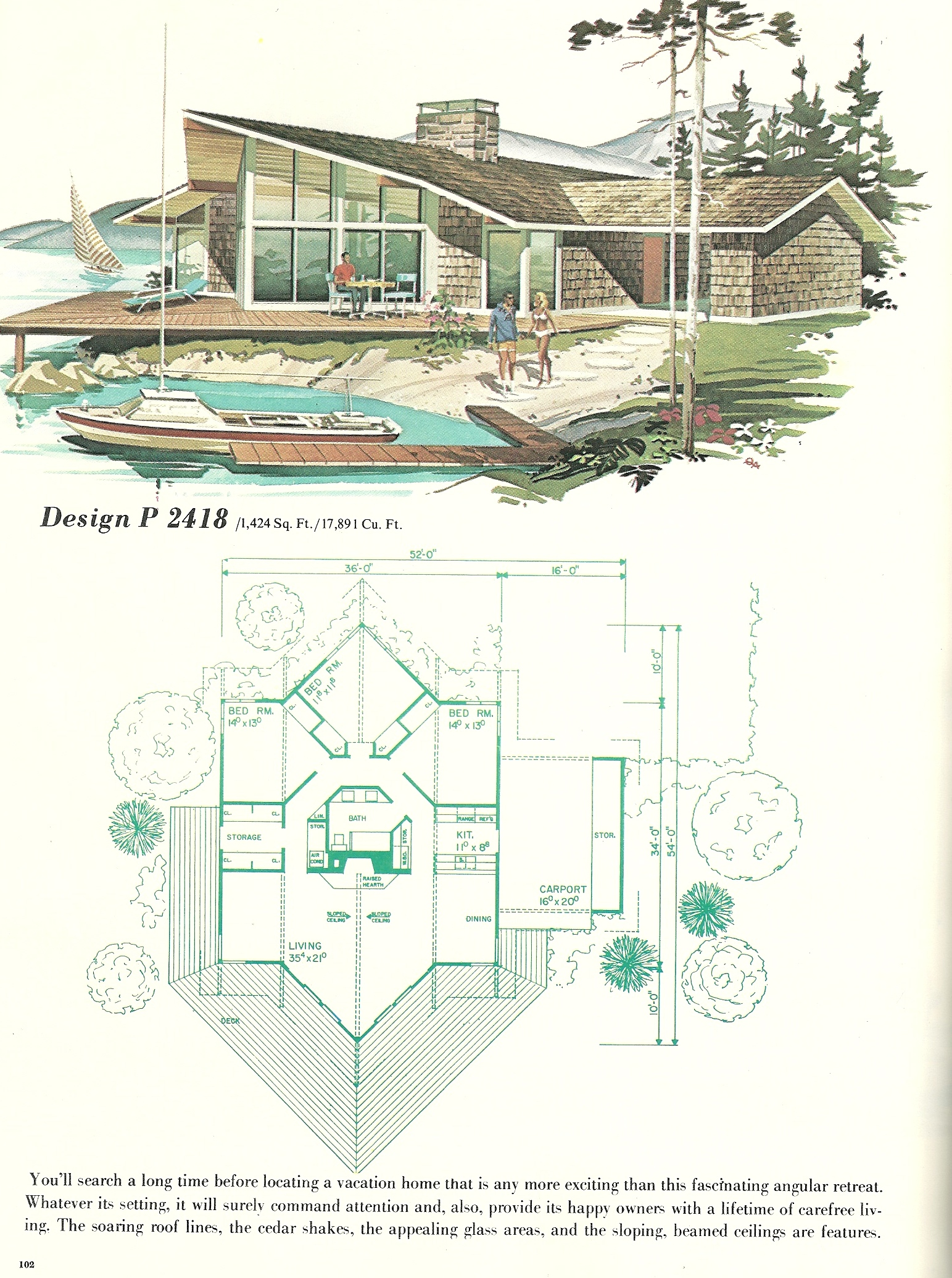 Vintage Vacation Home Plans 2418 Antique Alter Ego