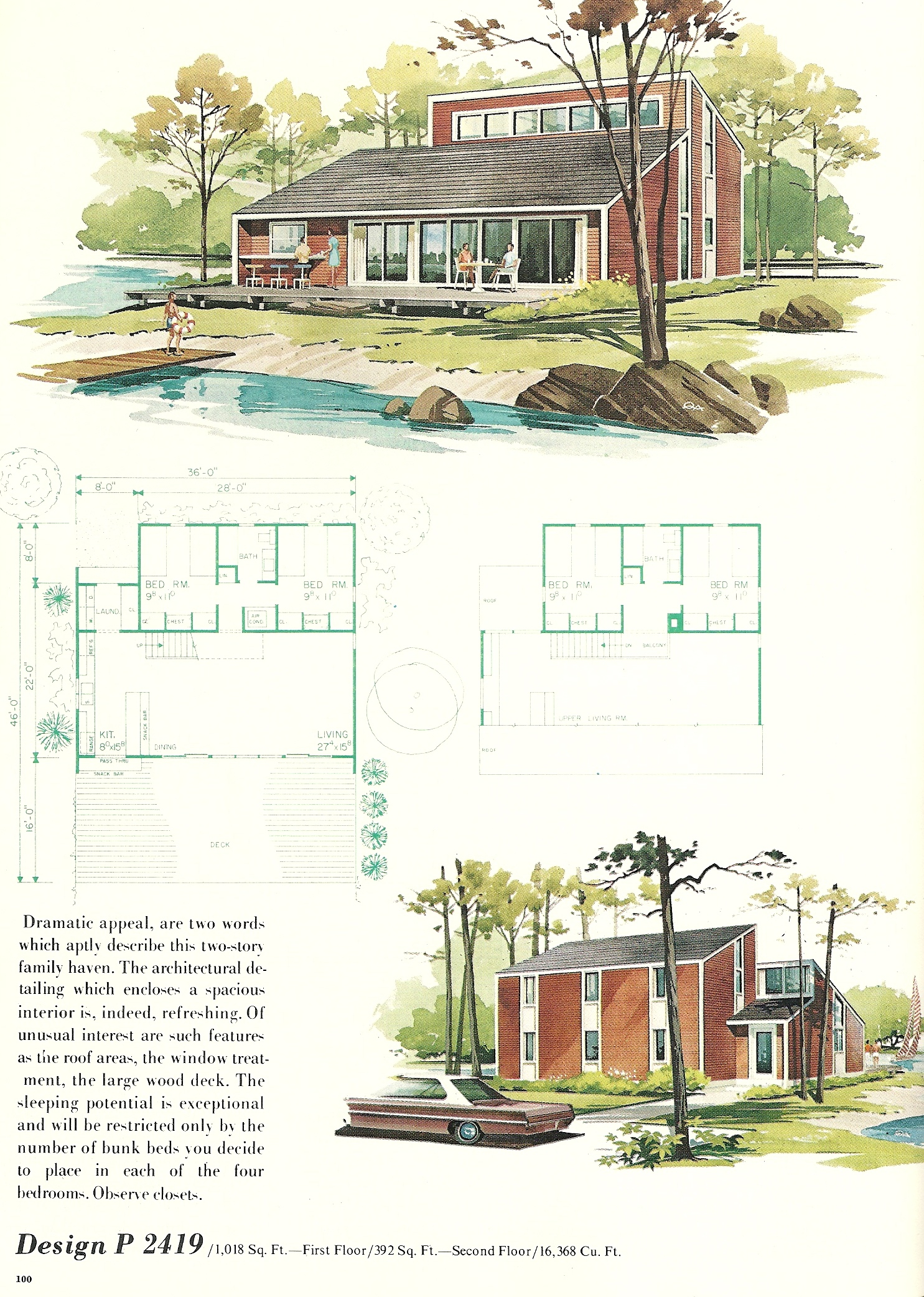 Vintage vacation home plans 2419 antique alter ego for New house plans 2013