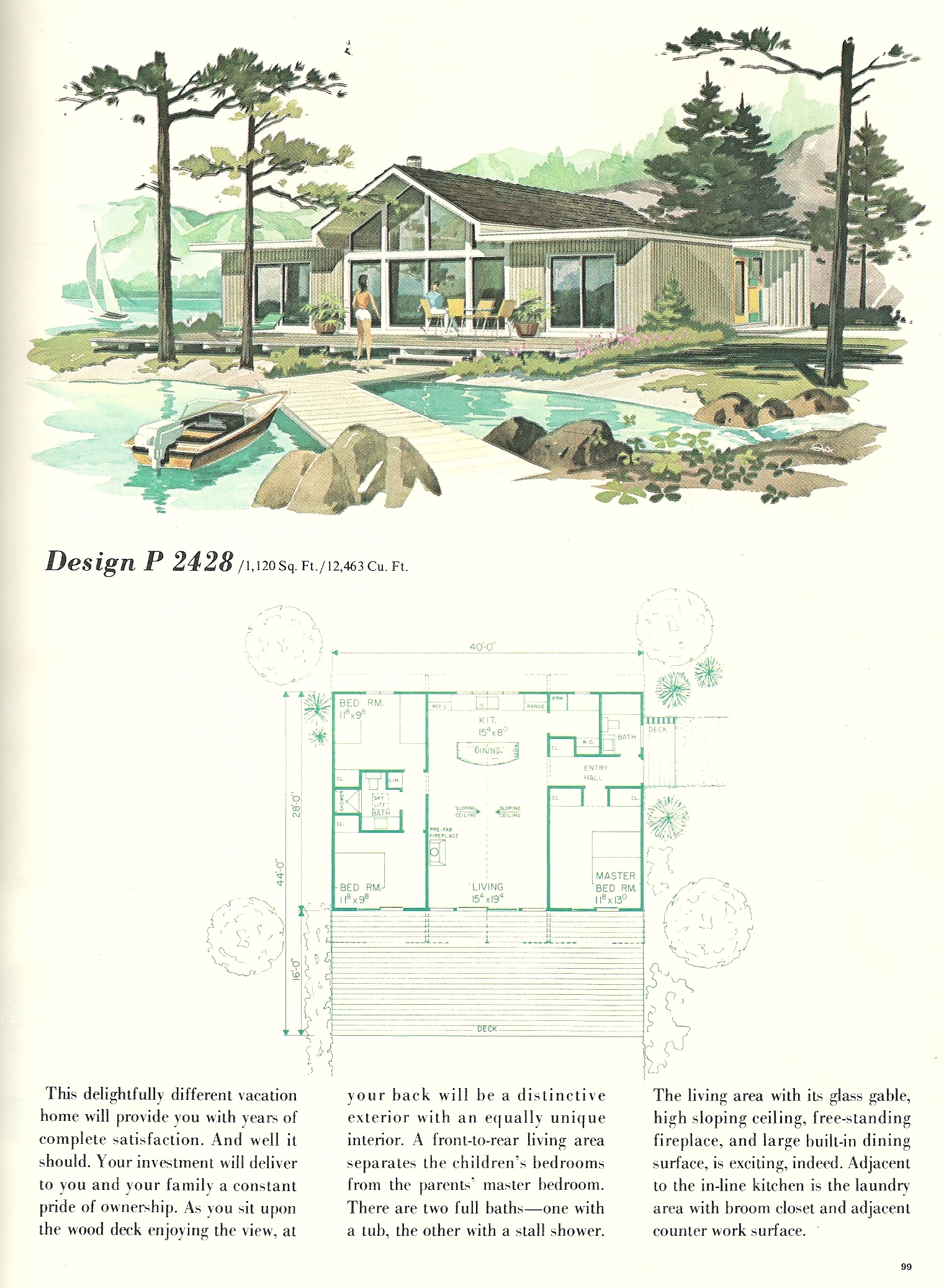 Vintage Vacation Home Plans 2428 Antique Alter Ego