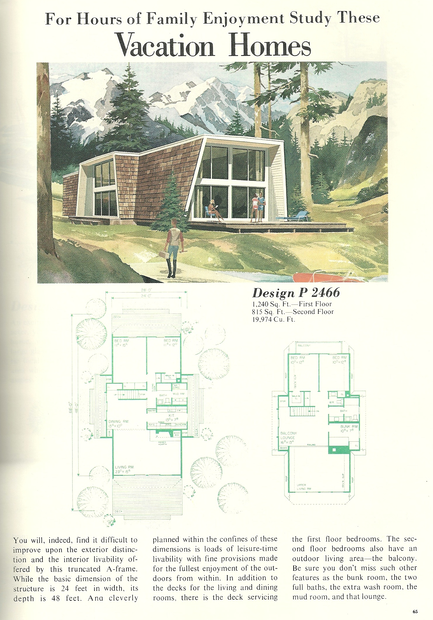 Vintage Vacation Home Plans 2466 Antique Alter Ego