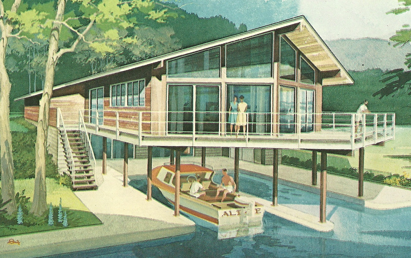 Vacation House Summer Getaway Holiday Home Design: Vintage Vacation Home Plans A