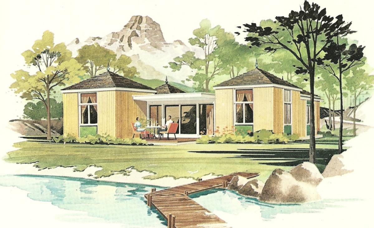 Vintage house plans 1960s new lifestyle vacation homes for Vintage home plans