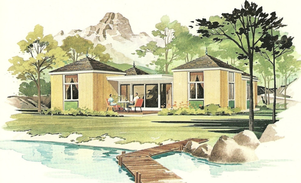 Vintage vacation home plans a antique alter ego for Free vacation home plans